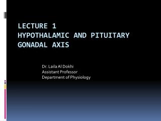 Hypothalamic-pituitary hormones