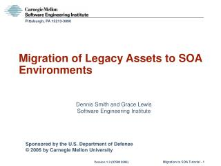 Migration of Legacy Assets to SOA Environments