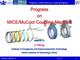 Progress  on MICE/MuCool Coupling Magnets