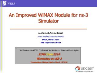 An Improved WiMAX Module for ns-3 Simulator _____________________________