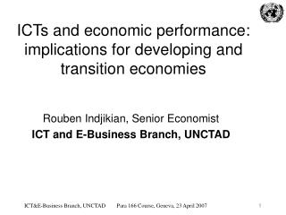 ICTs and economic performance: implications for developing and transition economies