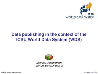 Data publishing in the context of the  ICSU World Data System (WDS)