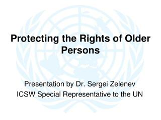 Protecting the Rights of Older Persons