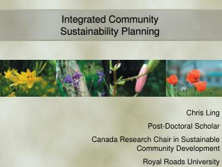 Integrated Community Sustainability Planning