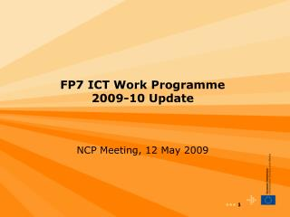 FP7 ICT Work Programme  2009-10 Update