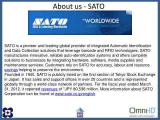 About us - SATO