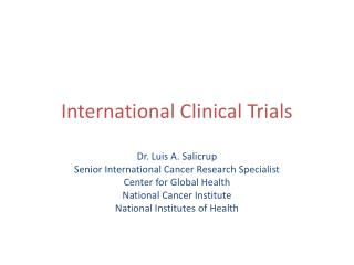 International Clinical Trials