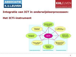 Integratie van ICT in onderwijsleerprocessen:  Het ICTi-instrument