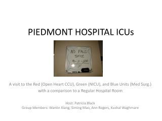 PIEDMONT HOSPITAL ICUs