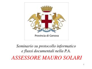 ASSESSORE MAURO SOLARI