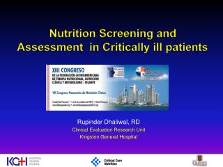 Nutrition Screening and Assessment  in Critically ill patients