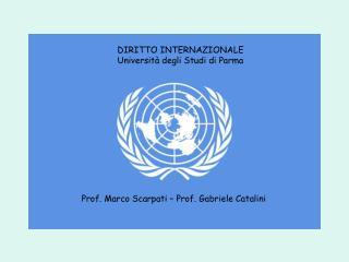 DIRITTO INTERNAZIONALE Università degli Studi di Parma