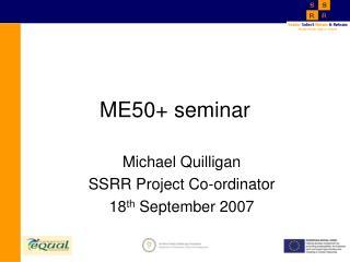 ME50+ seminar