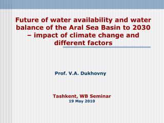 Tashkent, WB Seminar 19 May 2010