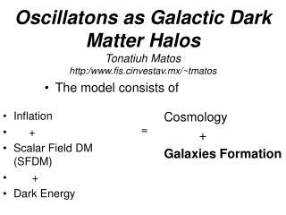 Oscillatons as Galactic  Dark Matter Halos Tonatiuh Matos http:/fis.cinvestav.mx/~tmatos