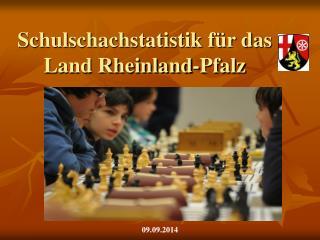 Schulschachstatistik für das Land Rheinland-Pfalz