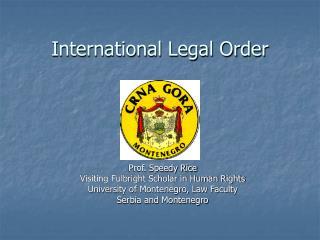 International Legal Order