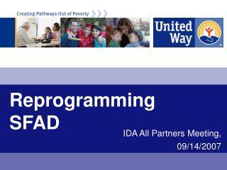 Reprogramming SFAD