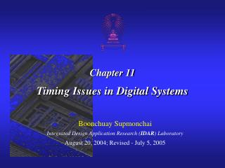 Chapter 11 Timing Issues in Digital Systems