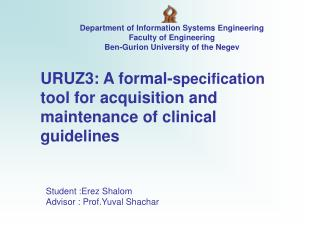 URUZ3: A formal- specification  tool for acquisition and  maintenance of clinical guidelines