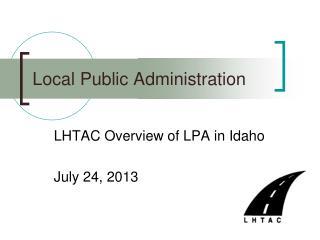 Local Public Administration