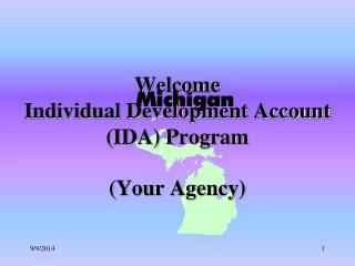 Welcome   Individual Development Account (IDA) Program (Your Agency)