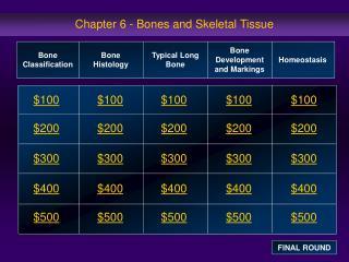 Chapter 6 - Bones and Skeletal Tissue