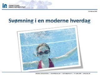 Svømning i en moderne hverdag