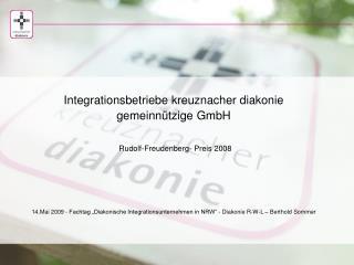 Stiftung kreuznacher diakonie · nicht aufhören anzufangen gegründet 1889