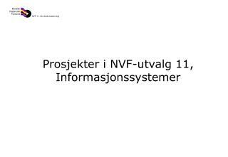 Prosjekter i NVF-utvalg 11, Informasjonssystemer