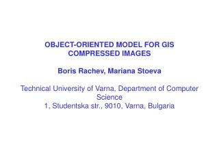 Object- oriented Model for GIS Compressed Images