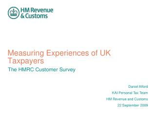 Measuring Experiences of UK Taxpayers