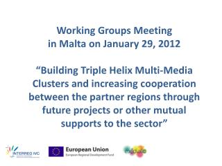Working Groups Meeting  in Malta on January 29, 2012
