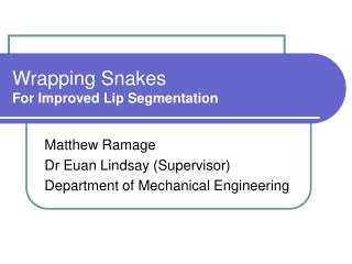 Wrapping Snakes For Improved Lip Segmentation