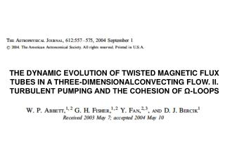 THE DYNAMIC EVOLUTION OF TWISTED MAGNETIC FLUX TUBES IN A THREE-DIMENSIONALCONVECTING FLOW. II. TURBULENT PUMPING AND TH
