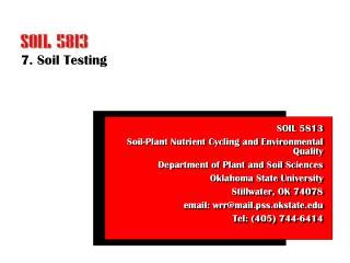 7. Soil Testing
