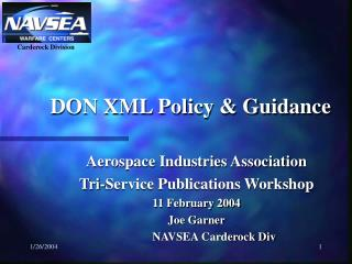 DON XML Policy & Guidance
