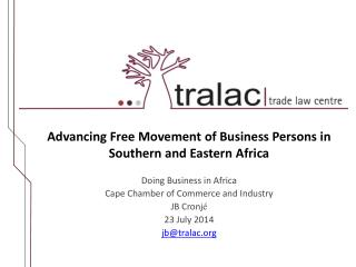 Advancing Free Movement of Business Persons in Southern and Eastern Africa