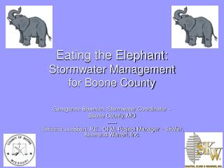 Eating the Elephant:  Stormwater Management  for Boone County