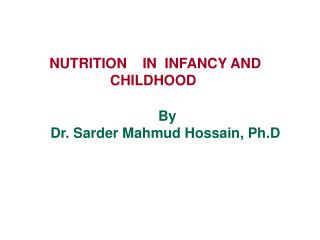 NUTRITION    IN  INFANCY AND CHILDHOOD