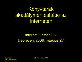 Könyvtárak akadálymentesítése az Interneten