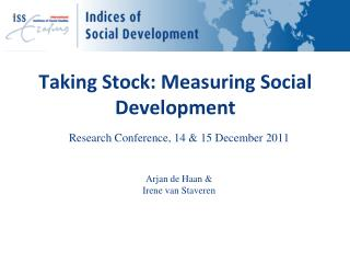 Taking Stock: Measuring Social Development