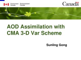 AOD Assimilation with CMA 3-D Var Scheme