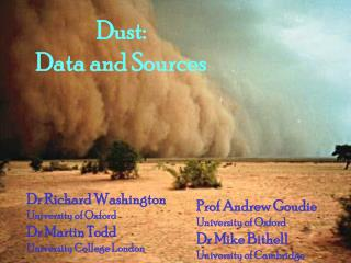 Dust:  Data and Sources