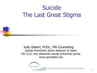 Suicide The Last Great Stigma