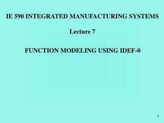 FUNCTION MODELING USING IDEF-0