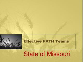 Effective PATH Teams