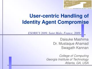 User-centric Handling of  Identity Agent Compromise