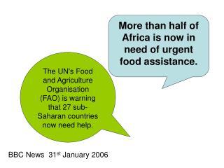 BBC News  31 st  January 2006