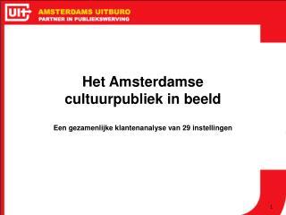 Het Amsterdamse  cultuurpubliek in beeld